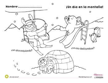 Free Winter Theme Coloring Pages {Spanish}