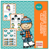 Free Winter Theme Number Clip Cards