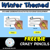 Free Winter Themed Crazy Pencil Labs to Develop Pencil Grasp !
