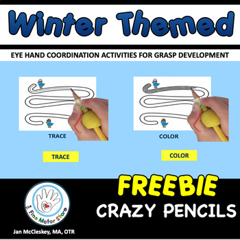 Free Winter Themed Crazy Pencil Labs for Center Time!
