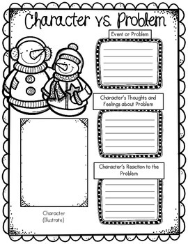 Free Winter Themed Graphic Organizer