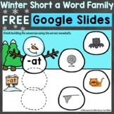 Free Winter Word Families Short Vowel a Google Classroom G