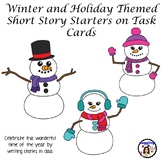 Winter and Holiday Themed Short Story Starters on Task Car