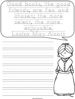 Women's History Month Writing Activities: Make a Book of Notable Quotables!