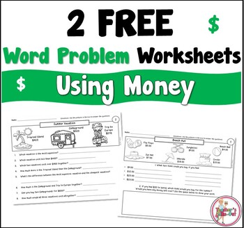 Free Word Problem Worksheets using Money