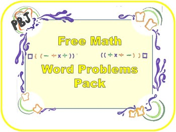 Free Word Problems packet