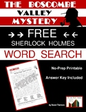 """Sherlock Holmes """"The Boscombe Valley Mystery"""" Word Search FREE!"""