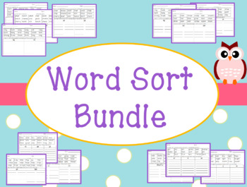 FREE Word Sorts Preview with ai and ay Words and y, ie, and igh Words