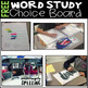 Free Word Study Spelling Choice Board