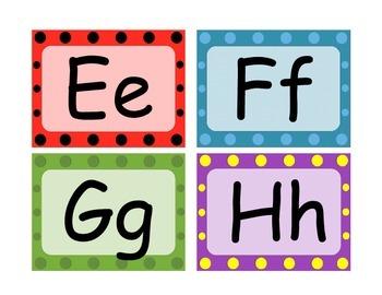 Free Word Wall Headings (Colorful Polka Dot Design)