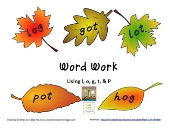 Free Word Work CVC