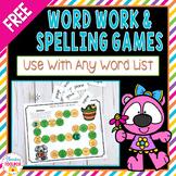 Free Word Work Games   Spelling Games