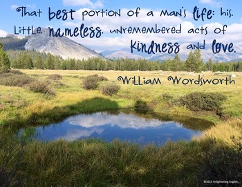 Free Wordsworth Quote Poster: That best portion of a man's