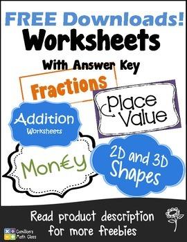 Free Downloads - Printable Worksheets