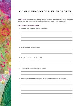 Free Worksheets from 250 Brief, Creative & Practical Art Therapy Techniques