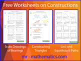 Free Worksheets on Constructions