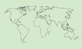 Free World Map Clip Art : Map with Outline