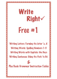 Free Write Right 1