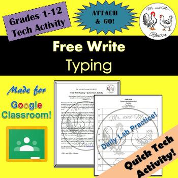 Keyboarding: Independent Writing Activity {Technology Keyboarding} GR 1-12