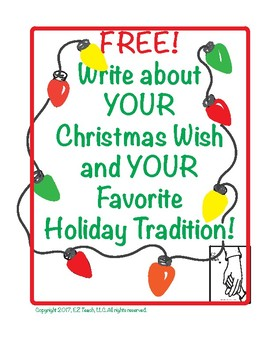 Free Writing Activities for the Holidays!