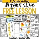 Free Writing Activity- 1st Grade Informative Explanatory Writing Lesson