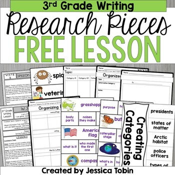 Free Writing Activity- 3rd Grade Research Writing Activity