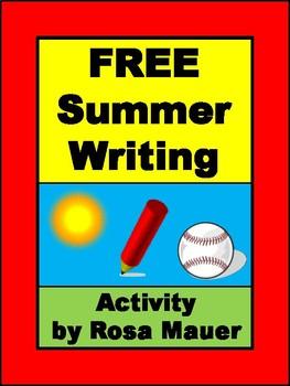 Free Writing Activity Summer Theme