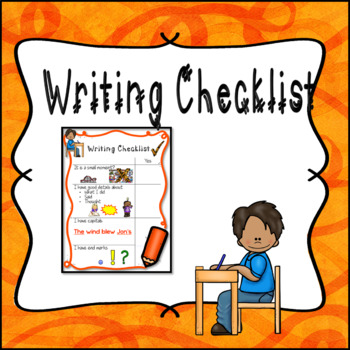 Free Writing Checklist Chart