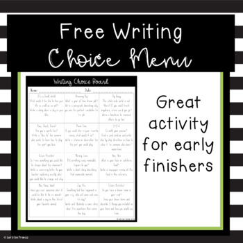 Free Writing Choice Prompts