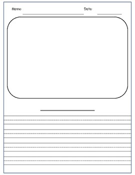 Free Writing Journal Pages for Primary