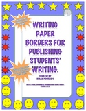 Free Writing Paper Borders for Publishing Writing