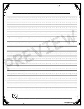 Lined Writing Paper FREE {Set Two}