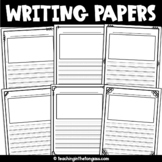 Lined Writing Paper with Picture Box FREE {Set One}