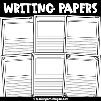 Lined Paper With Picture Box Worksheets & Teaching Resources