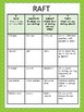 Free Writing RAFT Activities #2 Choice Board