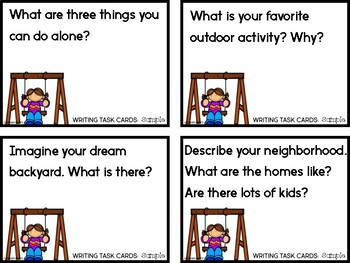 Free Writing Task Cards {A Sample}