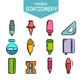 Free Writing tools and stationery clip arts