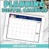 Free Printable and Digital Google Slides Teacher Planner Calendar