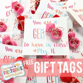 Free You Re A Gem Valentines Day Gift Tags By Once Upon A