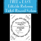 Free and Easy Editable Restroom Ticket Reward System For A