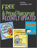 Free and Priced Resources (Recently Updated)
