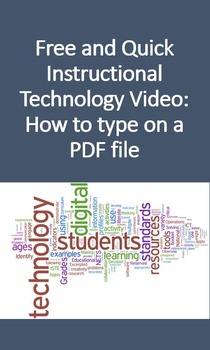 Free and Quick Instructional Technology Video: How to type on a PDF