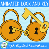 Free animated lock and key GIFs for digital resources