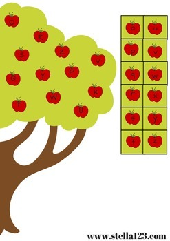 Free apple tree letter matching
