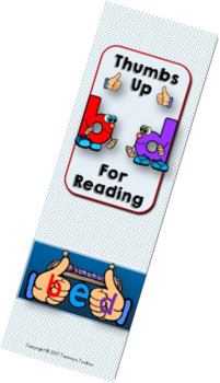 Free b and d Letter Reversal Bookmark