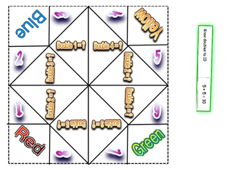 Free basic fact games - Cootie Catcher stage 3-5