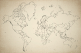 Free blank World Map, accurate, up-to-date, vintage style