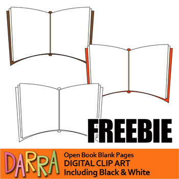 Free clip art Open Book Blank Pages