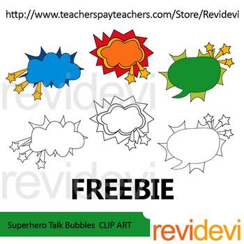Free clip art - Superhero Talk Bubbles
