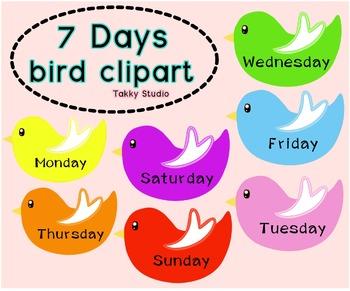 Free clipart-7days bird clipart